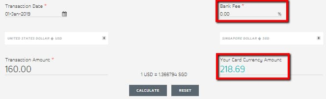 Online Credit Card Currency Conversion